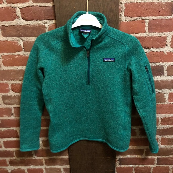Patagonia Jackets & Blazers - Patagonia green Better Sweater Quarter Zip Fleece